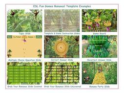 Bananas English PowerPoint Game TEMPLATE-An Original by ESL Fun Games
