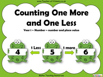 Counting One More and One Less - Year 1