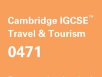 Cambridge IGCSE Travel & Tourism - Unit 4