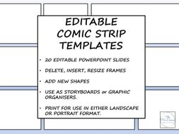Editable Comic Strip Templates By Thepenlicence Teaching Resources Tes