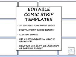 Editable Comic Strip Templates