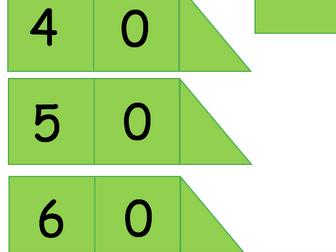 Place Value Arrow Cards -Dienes colours