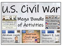 UKS2 American Civil War Reading Comprehension & Writing Bundle