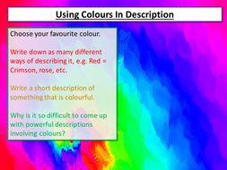 Creative Writing Using Colour
