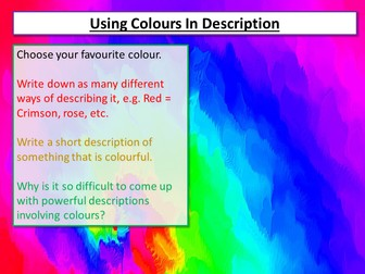 Creative Writing Using Colour
