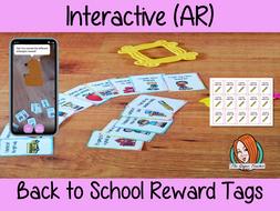 Interactive Back to School Reward Tags (Brag Tags)