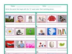 Phonics D Sound Photo Worksheet