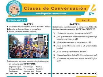 La U.E. - Spanish Speaking Activity