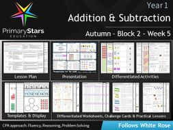 YEAR 1 - Addition Subtraction - White Rose - WEEK 5 - Block 2 - Autumn - Differentiated Resources