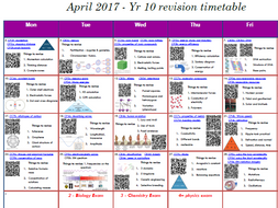 Combined Science Edexcel 9-1: mock exam interactive revision schedule