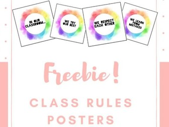 Freebie! Class Rules Posters