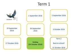 Visual timetable - annual