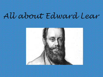 All about Edward Lear
