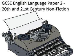 GCSE English Language Paper 2 Scheme of Work - Edexcel