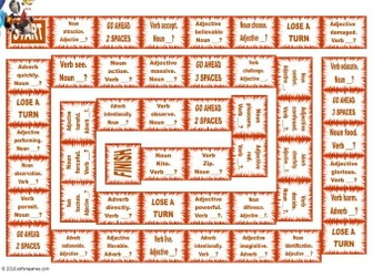 Word Forms Animated Board Game