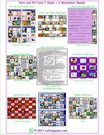 Pets and Pet Care 7 Game Plus 2 Worksheet Bundle