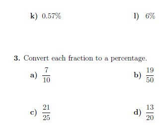 percentages fractions and decimals worksheets with solutions by  converting between percentages fractions and decimals worksheet with  solutions