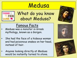 medusa poetry theme 2 3 lessons for ks2 and ks3 by teachsureenglish teaching resources. Black Bedroom Furniture Sets. Home Design Ideas