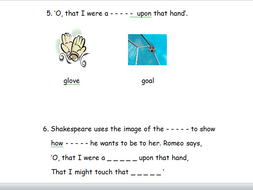 Romeo and Juliet - Balcony Scene - Differentiated Workbook (Y8/9 - Low Ability)