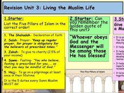 Edexcel RE Unit 3: Living the Muslim life; Revision Powerpoint!