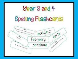 Year 3 & 4 Spelling Flashcards Statuary