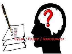 English Entry Test senior school grades 7,8,9 - with grammar, comprehension & creative writing