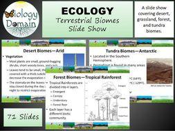 Terrestrial Biomes Slide Show