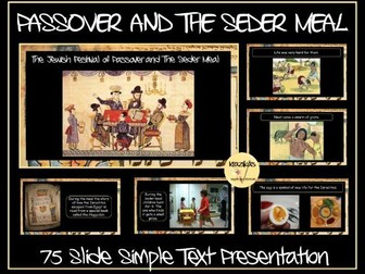 Passover: The Seder Meal Presentation