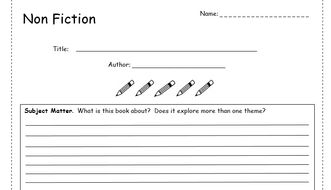 Book Review Template Non Fiction By Bubbleresources Teaching