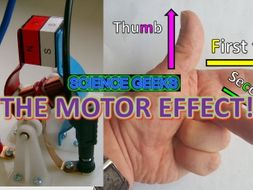 THE MOTOR EFFECT, FLEMING'S LEFT HAND RULE AND BIL