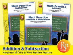 Addition & Subtraction: Math Practice {Bundle}
