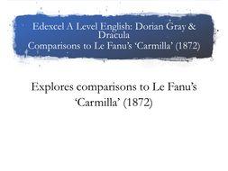 Edexcel A Level Gray & Dracula Carmilla