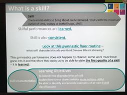AQA GCE - Lesson 1 - Skill Acquisition
