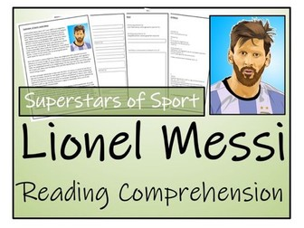 UKS2 Literacy - Lionel Messi Reading Comprehension Activity