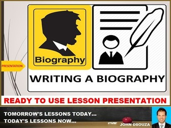 BIOGRAPHY WRITING - READY TO USE LESSON PRESENTATION