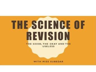 The Science of Revision- Study Skills