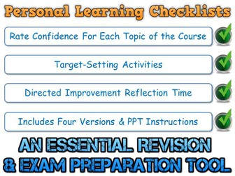 PLC - AQA GCSE Chinese - Grammar (Personal Learning Checklist) [Incl. 4 Different Formats!]