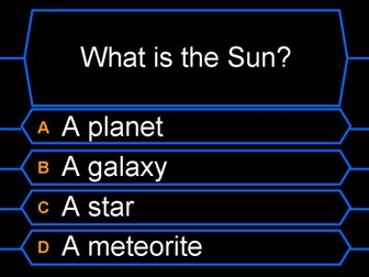 Sun Moon and Earth Who Wants to be a Millionaire Game