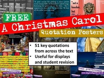 A Christmas Carol Quotes Display Revision