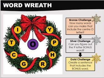 Literacy: Word Wreath_Christmas Starter Activity