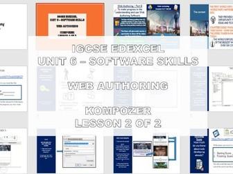 EDEXCEL IGCSE ICT – UNIT 6 WEB AUTHORING (LINKS, ANCHORS, ALT TEXT) 2 of 2