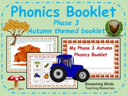 Autumn themed phonics booklet - phase 3