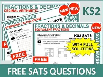 Maths SATs Bundle (Fractions, Decimals and Percentages)
