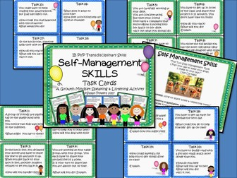 A Growth Mindset Task Cards Activity for Self Management Skills