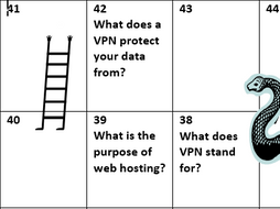 Snakes and ladders - OCR Computer Science 1.4 Wired and Wireless networks.