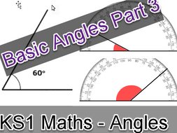 Basic Angles Part 3 Including Triangles worksheet for maths early years