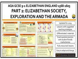 Elizabethan England 1568-1603 AQA GCSE 9-1 Bundle Part 2