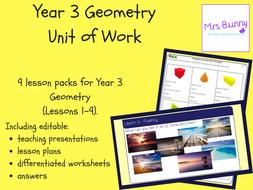 Year 3 Measurement: Geometry Unit Pack