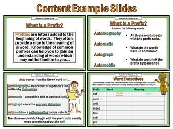 Prefixes (PowerPoint teaching resource)