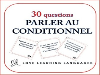 GCSE FRENCH: Conditional Tense French Speaking Task Cards